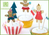 Funny Kids Birthday Cake Toppers , Party Food Picks Bowling Cake Decorations