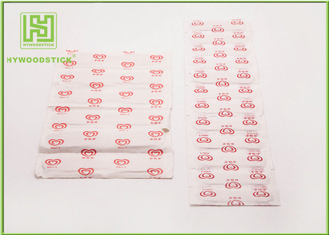 114mm Ice Cream Wooden Sticks In Bundle Packing No Chemicals / Toxins