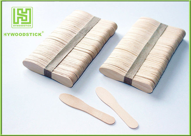 100% Natural Ice Cream Wooden Sticks Scoop Different Shapes For Honey