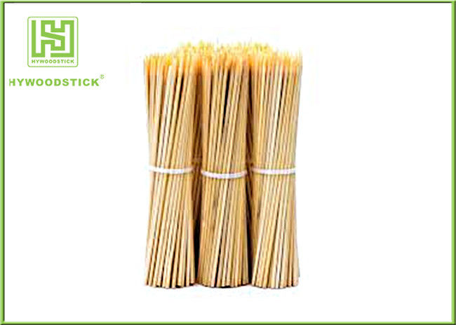 Eco - Friendly Bamboo BBQ Sticks Vegetarian Bbq Skewers Wooden 25cm Length