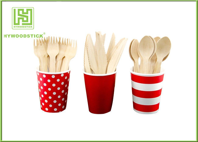 14cm Eco Friendly Cutlery Compostable Dinnerware Wooden Party Spoons For Children