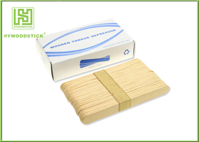Adult / Children Sterile Wooden Tongue Depressor In Bulk 150 * 18 * 1.6mm Size