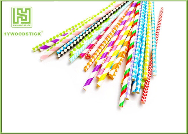 Unique Party Decorations Party Paper Straws Biodegradable 50pcs / Bag