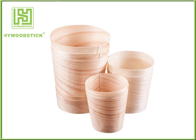 Disposable Wooden Pasta Serving Bowl , 12'' Big Wooden Sushi Bowl For Hotel