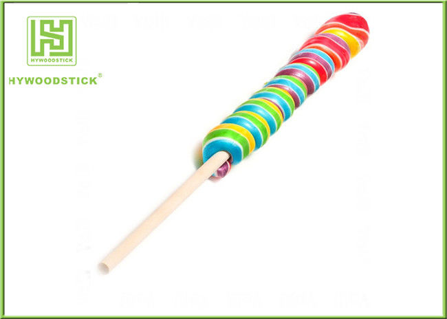 Large Coloured Lollipop Sticks Cute , Smoothly Decorative Candy Apple Sticks