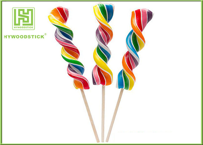 Biodegradable Wooden Lollipop Sticks With Ball Hot Stamping Logo Printed