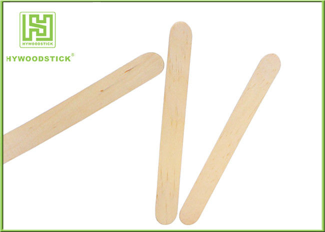 Sterile Large Paddle Pop Sticks , 93mm Wood Skill Sticks Hot Stamp Logo