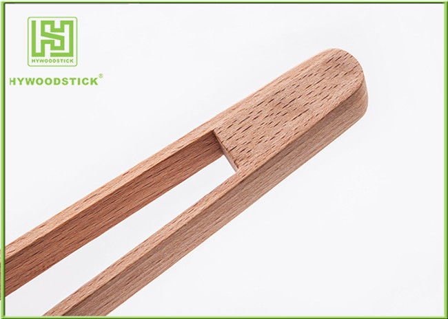 Beech Wood House Kitchen Wares 30cm Small Kitchen Tongs For Ice Food Salah Picker