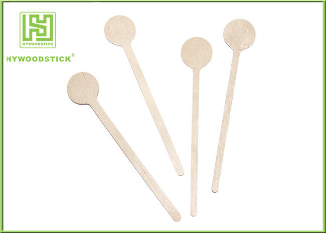 Food Grade Wooden Tea Stirrers OEM FSC Disposable Natural Wood Coffee Muddler