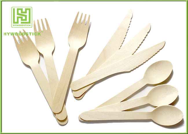 100% Natural Wooden Retail Eco Friendly Cutlery 100 Forks 100 Knives 100 Spoons