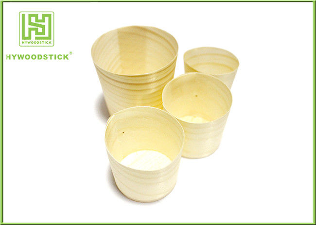 New Product Disposable Wooden Round Cup for Food Party Cake Cup